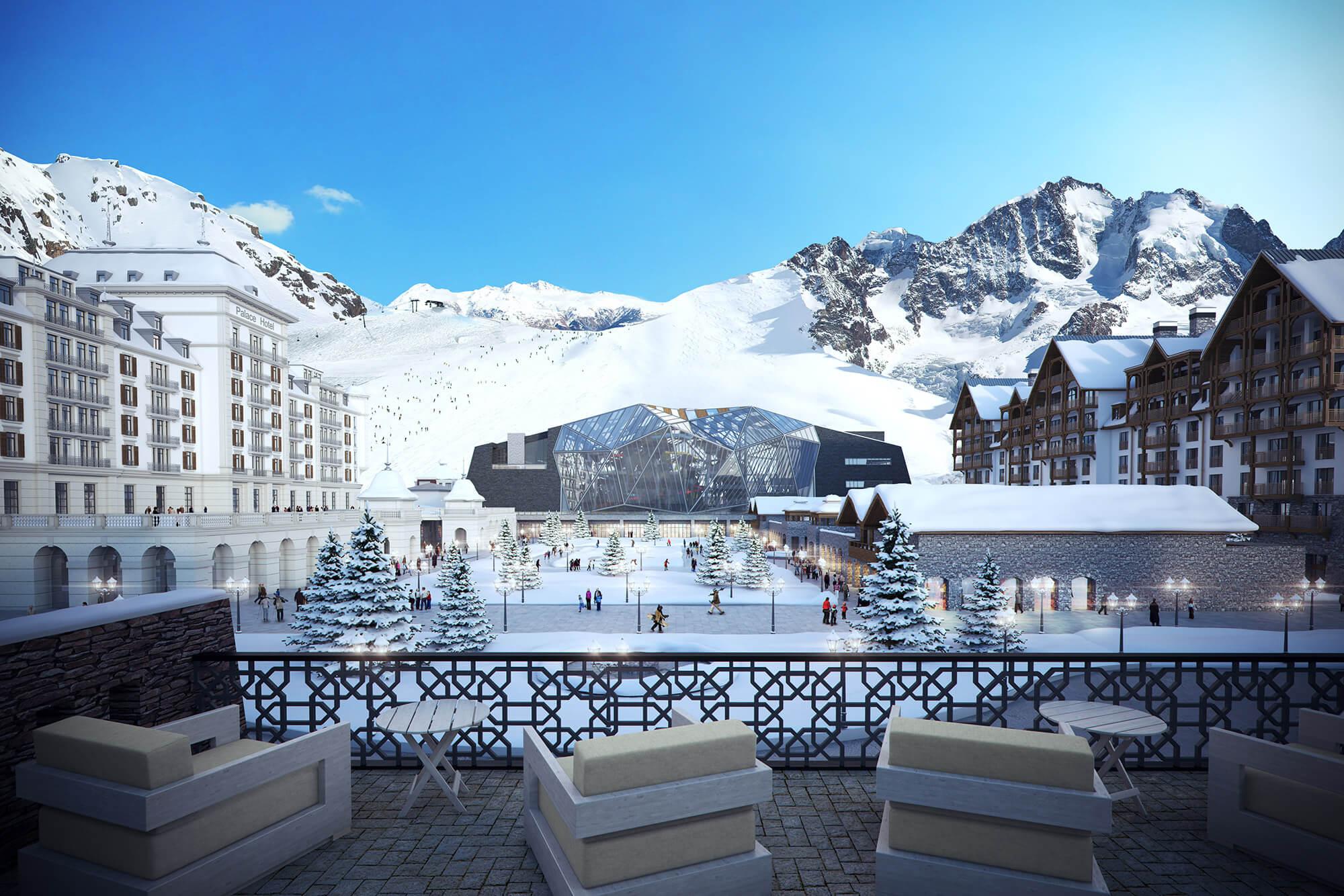 ski resort - azerbaijan | cgi sources international architecture